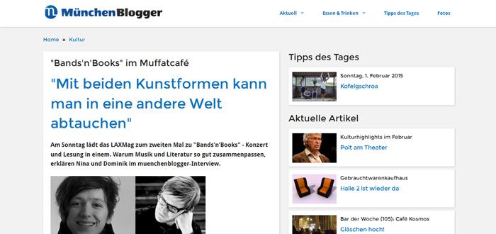 muenchenblogger.de: Interview mit Nina-Carissima Schönrock