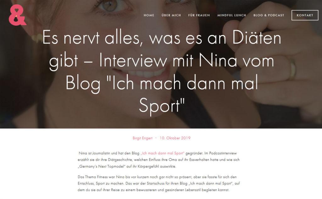 Nina-Carissima Schönrock, Podcast, Happy Talk