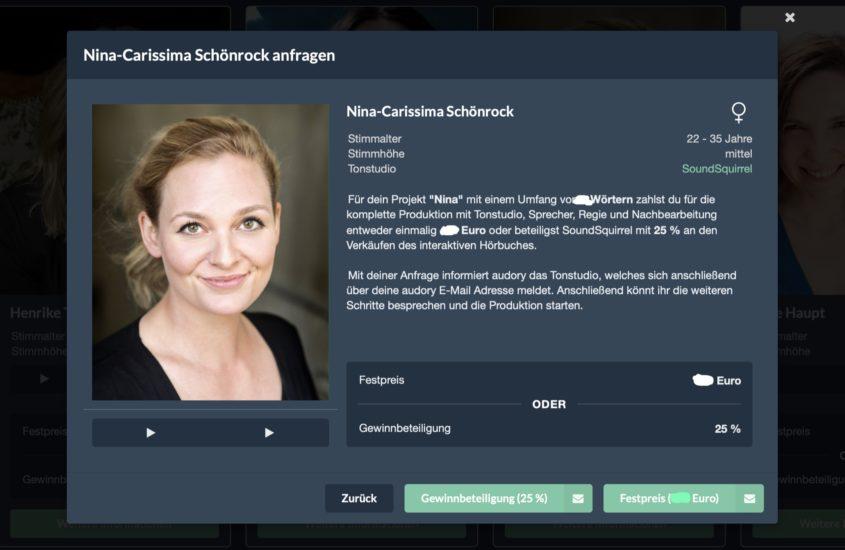 Neu bei audory: Nina-Carissima Schönrock