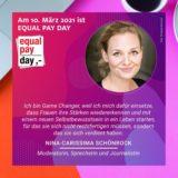 Equal Pay Day 2021, Kampagne, Game Changer, Nina-Carissima Schönrock, Moderatorin, EPD, Gleichberechtigung