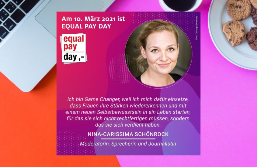 Equal Pay Day 2021: Nina-Carissima Schönrock ist Teil der Kampagne