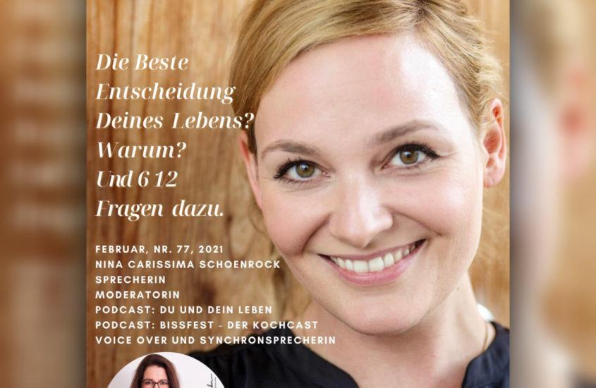 Interview mit Nina-Carissima Schönrock über die beste Entscheidung ihres Lebens