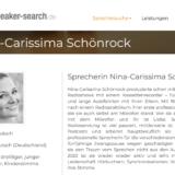 Nina-Carissima Schönrock, Sprecherin Nina-Carissima Schönrock, Sprecheragentur, speaker-search